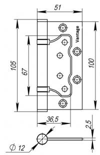Vantage 2BB-AB 100*75*2,5