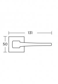 Дверная ручка Convex 1495 матовый хром