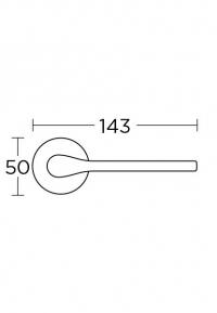 Дверная ручка Convex 1515 хром